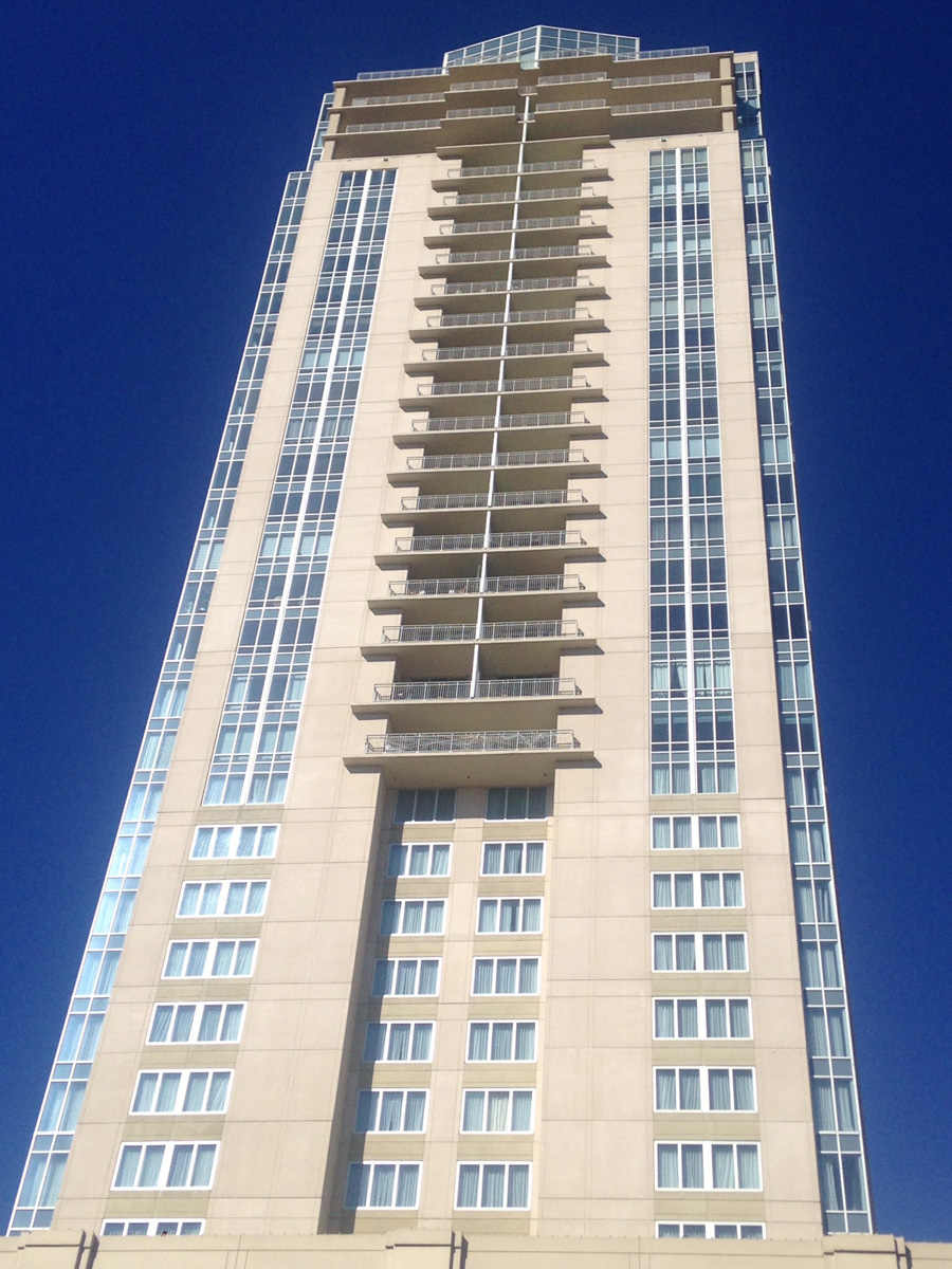 Westin luxury hotel virginia beach va slenderwall panels for Architectural exterior design virginia beach